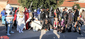 Dark Souls and Bloodborne cosplayers group