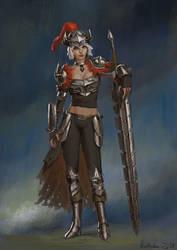 Dechibified Warrior by Rotaken