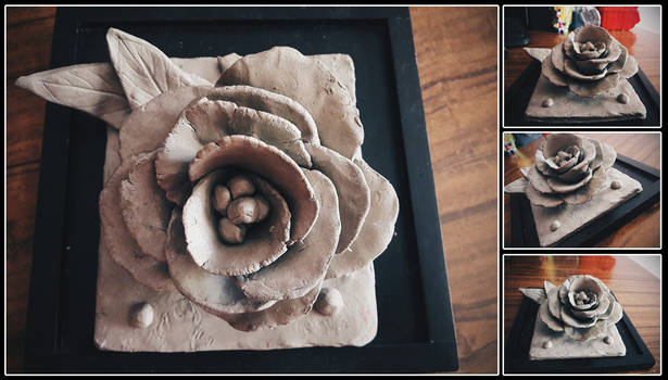 Ceramic rose (worked with clay)