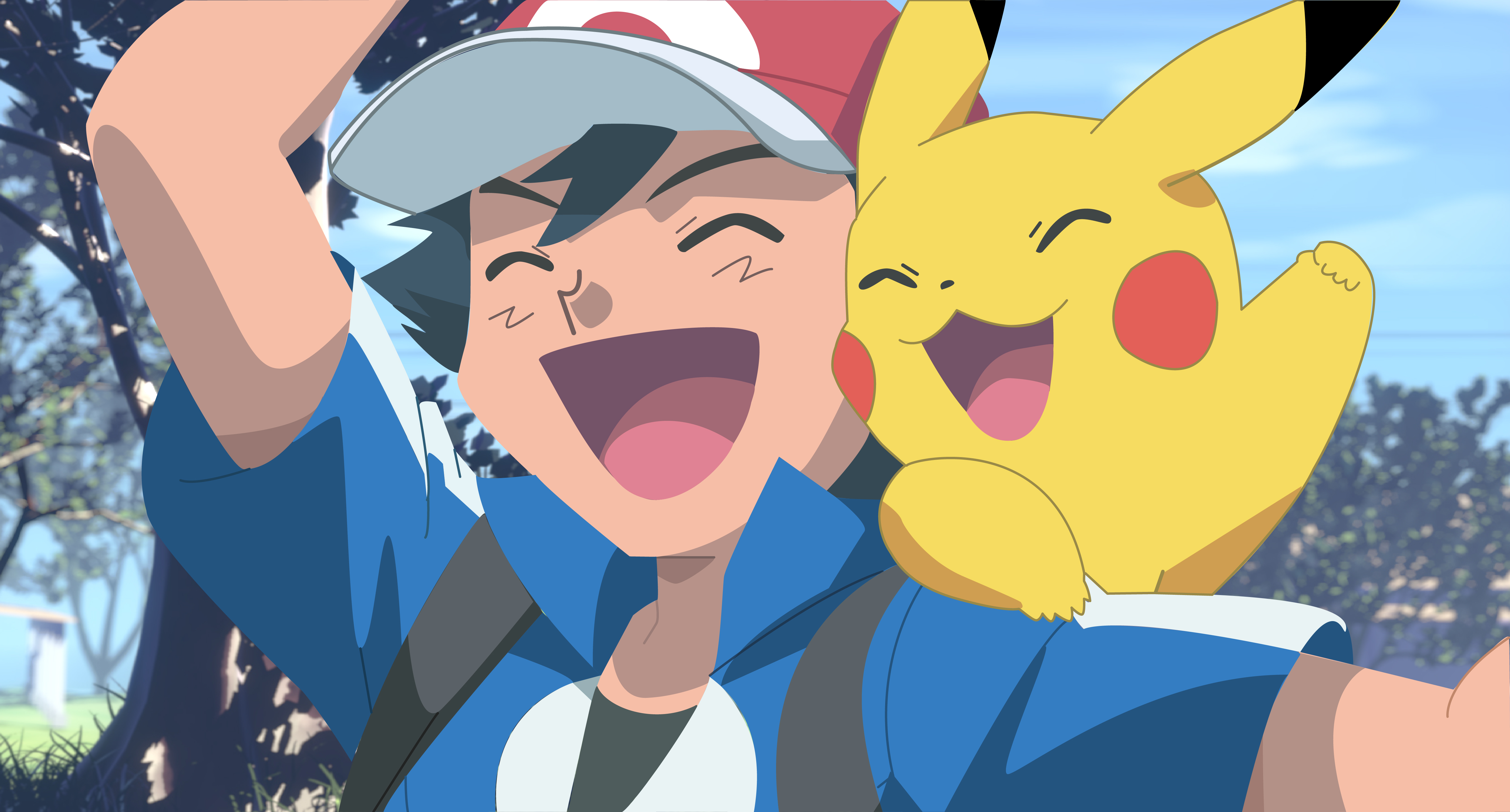 pokemon ash and pikachu by luchoxfive on deviantart