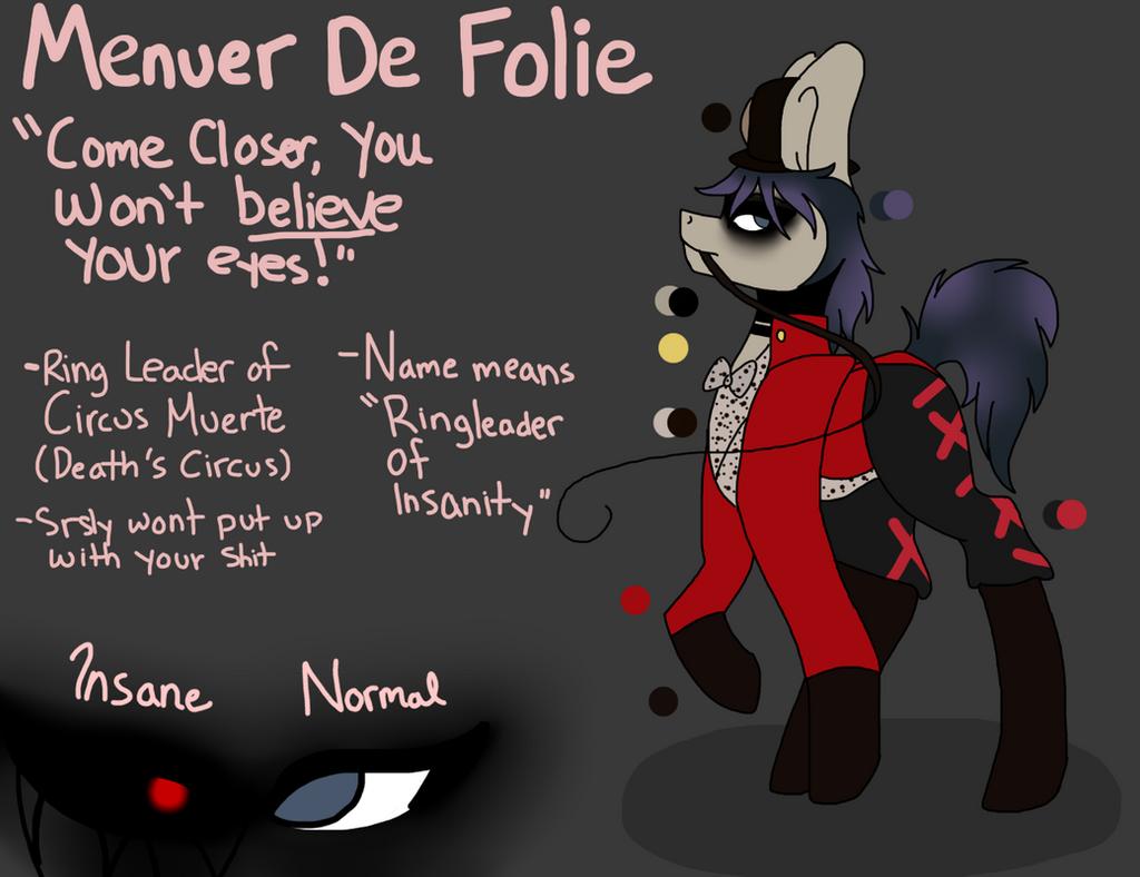 [OC Reference Sheet] - Menuer De Folie by ArtseeWolfee