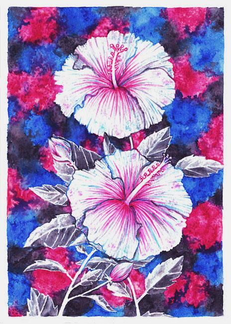 Bronze Hibiscus by Wai-Jing