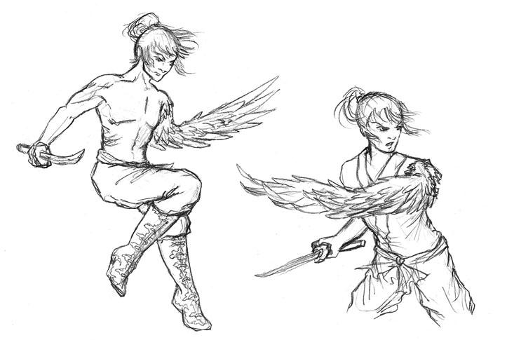 Time Flies - Shiro sketches by Wai-Jing