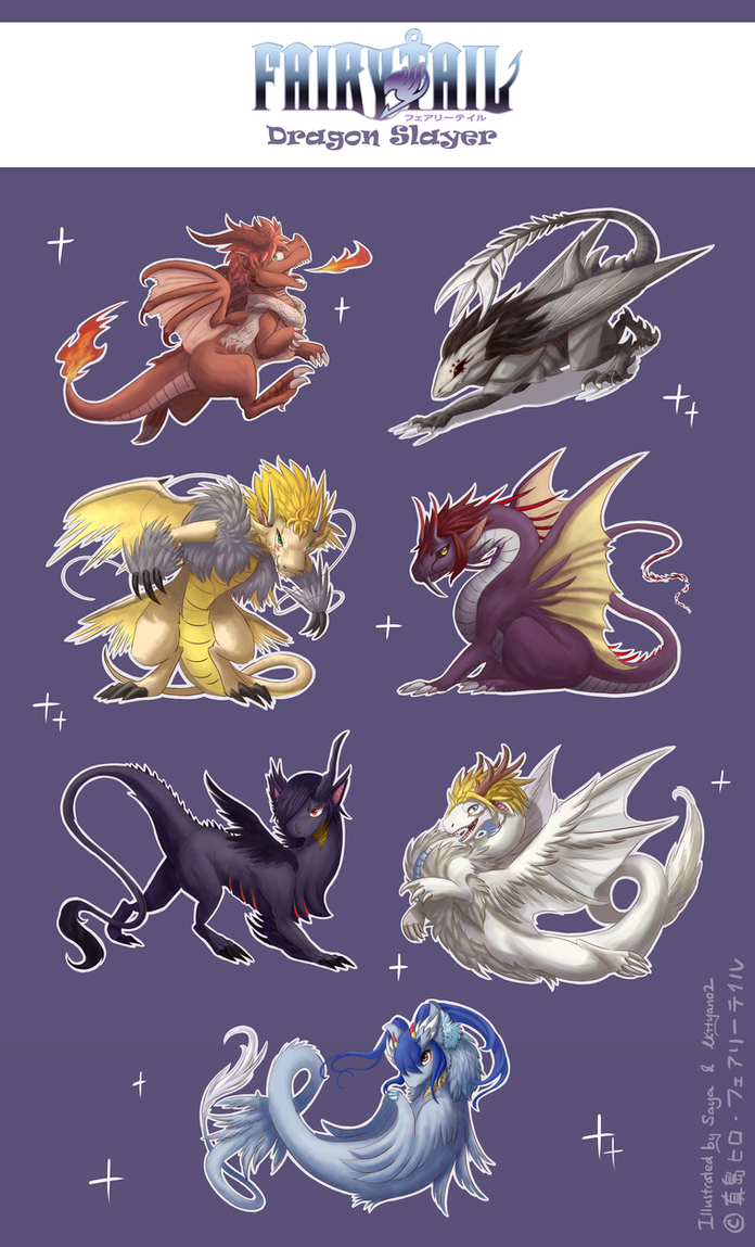 *Collab* Dragon Slayers from Fairytail by Saya2pt0