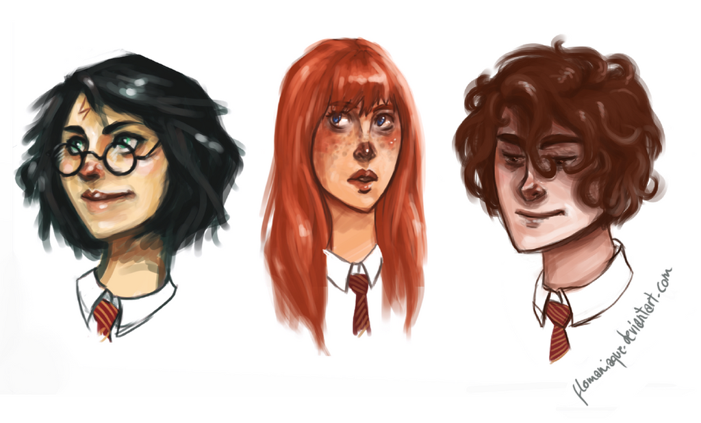 Genderbent Golden Trio by Flomaniaque