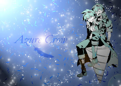 Azure Crow Simon Wallpaper by SqueakyTachibana