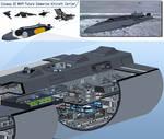 Cutaway of a US Navy submarine aircraft carrier