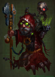 Gelbin Mekkatorque  Warcraft 40000 by rancore33