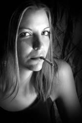 Kate, smoking. by ulose2piranha