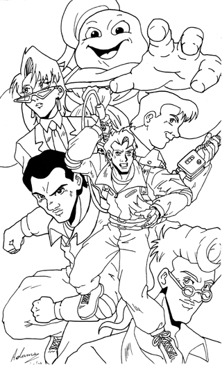 Real ghostbusters fan art 1 by irie mangastudios on deviantart for Stay puft coloring page