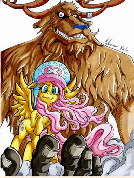 Nakama is Magic: Monster Chopper and Fluttershy