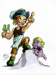 My Little One Piece - Kid Usopp and Spike