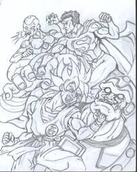 Team-up: Superman and Goku vs Frieza and Mongul