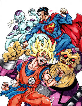 DBZxSuperman Team-Up 01