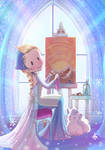 Elsa and Vulpix: a frozen friendship