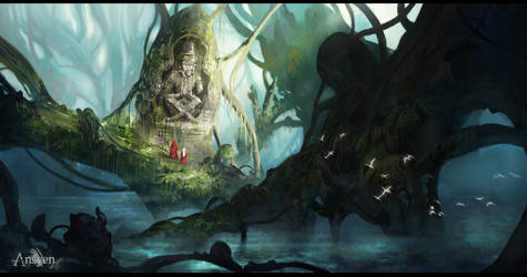 Ansyen - forest by CarlosArthur