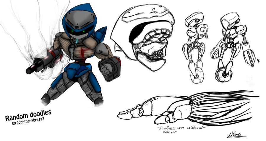 Random Doodles by Jonathanxbrass2