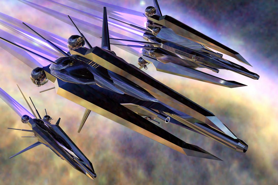 Saskia heavy interceptor by 5-4