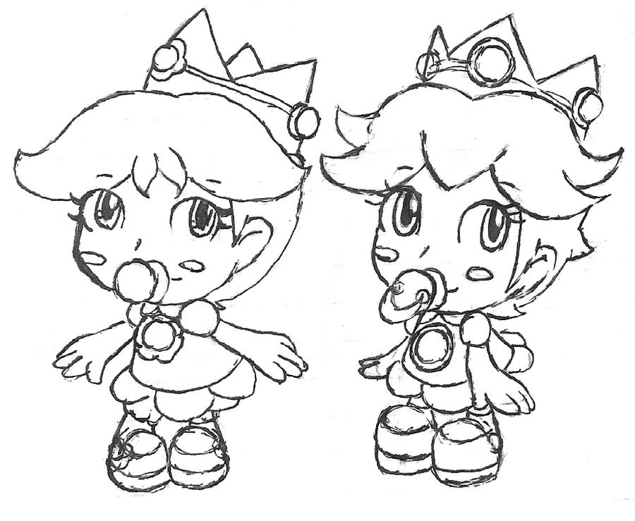 Baby Peach And Daisy By Kierrysu
