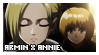 SnK: Armin x Annie Stamp by xioccolate