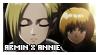 SnK: Armin x Annie Stamp by Cioccoreto