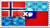 APH: Norway x Taiwan Stamp by xioccolate