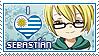APHxOC: Sebastian (Uruguay) Fan Stamp by StampillaDiChocolat