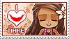 APHxOC: Tiare (Easter Island) Fan Stamp by Cioccoreto