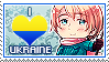 APH: I Love (male)Ukraine Stamp by StampillaDiChocolat
