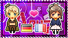 APH: Fem!Germany x Fem!France Stamp by xioccolate
