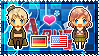 APH: Fem!Germany x Fem!America Stamp by StampillaDiChocolat