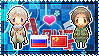 APH: Russia x China Stamp by xioccolate