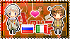 APH: Russia x South Italy Stamp by xioccolate