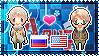 APH: Russia x America Stamp by StampillaDiChocolat