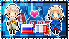 APH: Russia x France Stamp by xioccolate