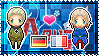 APH: Germany x France Stamp by xioccolate