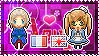 APH: France x Fem!England Stamp by StampillaDiChocolat