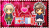 APH: England x Fem!France Stamp by xioccolate