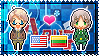APH: America x Lithuania Stamp by xioccolate