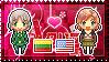 APH: Lithuania x Fem!America Stamp by Cioccoreto
