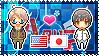 APH: America x Japan Stamp by StampillaDiChocolat