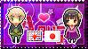 APH: England x Fem!Japan Stamp by Cioccoreto