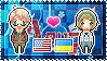 APH: America x Ukraine Stamp by xioccolate