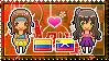 APH: OC!Colombia x OC!Venezuela Stamp by StampillaDiChocolat