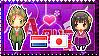 APH: Netherlands x Fem!Japan Stamp by StampillaDiChocolat