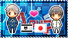 APH: Prussia x Japan Stamp by StampillaDiChocolat