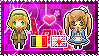 APH: Belgium x Fem!England Stamp by xioccolate