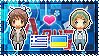 APH: Greece x Ukraine Stamp by xioccolate