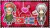 APH: Turkey x Iceland Stamp by xioccolate