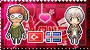 APH: Turkey x Iceland Stamp by Cioccoreto